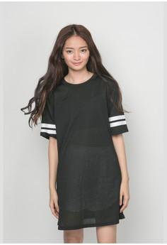 Arm Striped Dress Shirt