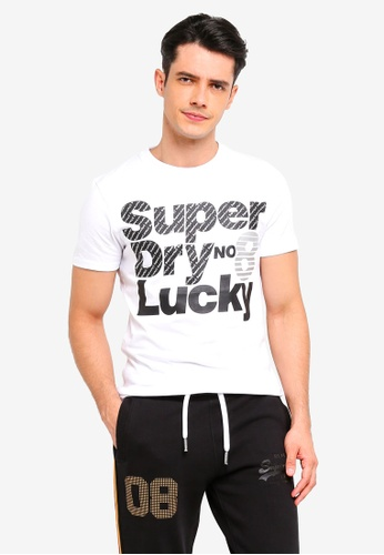 Superdry 白色 短袖印花T恤 7B0FEAA0C55611GS_1