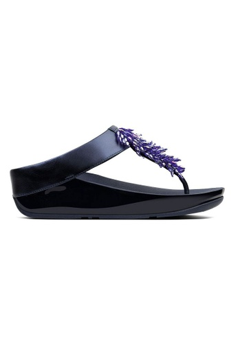 57dc85a1eee3 Fitflop blue Fitflop Rumba Toe-Thong Sandals (Meteor Blue)  DB915SHB9407B4GS 1