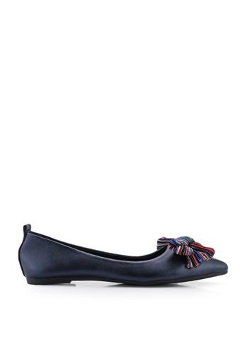 BETSY 藍色 蝴蝶結平底鞋 F45B2SH30A61E5GS_1