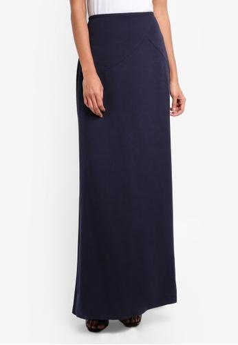 Mango blue Soft Fabric Long Skirt 5CBD4AA9956BDFGS_1