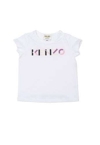 KENZO KIDS white KENZO BABY GIRLS T-SHIRT D4615KACC372EBGS_1