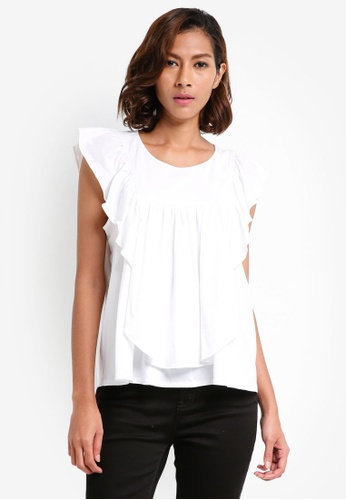 J.Crew white Tiered Ruffle Top 00AB9AA92B176DGS_1