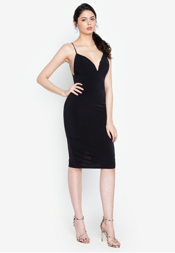 Heather Clothing black Holy Chic Strappy Dress 58BE0AA232B00BGS_1