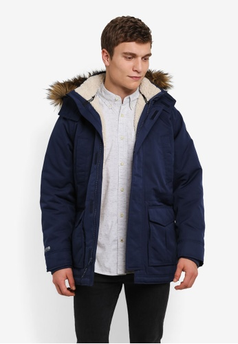 Hollister navy All Weather Parka HO422AA0S3BLMY_1