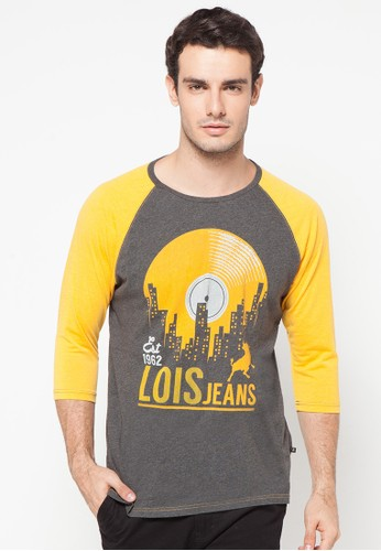 Lois Jeans multi and grey ¾ Sleeve T-Shirt LO391AA16YXVID_1