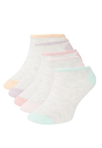 DeFacto 灰色 5-pack Low Cut Socks 933A2AABD19FCBGS_1