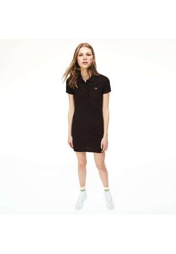 Lacoste black Lacoste Women's Stretch Mini Cotton Piqué Polo Dress D9549AACE95960GS_1