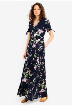 61ef127df05ac4 Angeleye navy Navy Floral Print Maxi Dress E5B23AAE3DBCADGS_1
