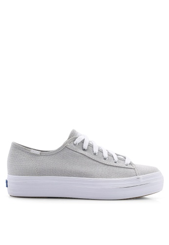 b0b5d3b2507 Buy Keds Triple Kick Iridescent Canvas Sneakers Online on ZALORA Singapore