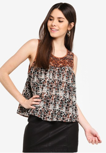 Free People multi and brown Lucky Coin Tank Top 48391AAE38B00BGS_1