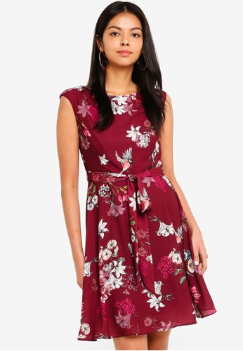 Wallis Red Pee Berry Fl Dress 5b9afaa460ad15gs 1