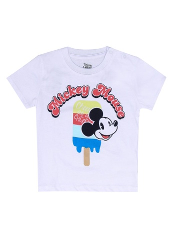 FOX Kids & Baby white Baby Boy Short Sleeves Mickey Tee A77F2KA34B050DGS_1