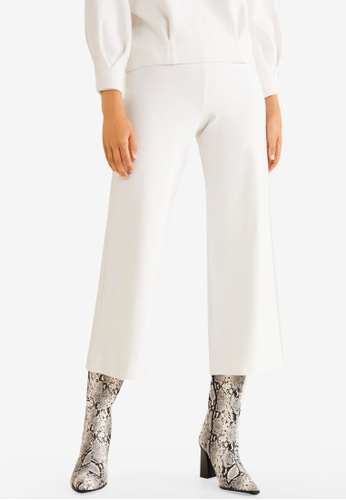 Mango white Crop Knit Trousers 4A2E8AACF4BAF8GS_1