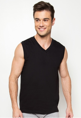 Shop BENCH V-Neck Muscle Shirt Online on ZALORA Philippines 3b9b6e04d