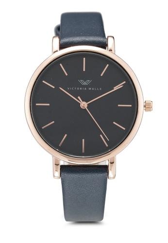 Victoria Walls Watches navy Designer Watch-Elegant Leather Strap 1E545ACE73E233GS_1