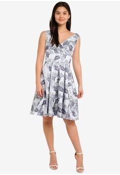 1ab80dd0552 60% OFF Dorothy Perkins Blue Jacquard Prom Dress RM 291.55 NOW RM 116.90  Sizes 8 10 12 14 16