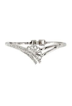 Paris Bijoux BB12349A Rhodium Plated Bangle - Crystal