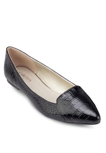 尖esprit taiwan頭亮面平底鞋, 女鞋, 芭蕾平底鞋