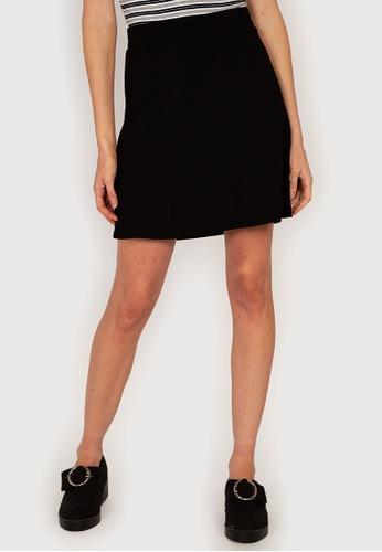 H&M black Jersey A-Line Skirt A703FAA1BE061DGS_1