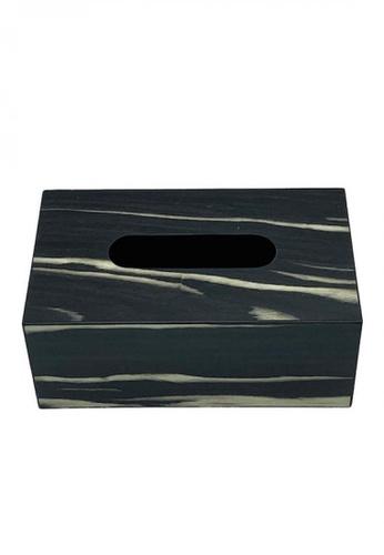 Maison Curio Picola Tissue Box Noir/Gold F52E3HL05B6252GS_1