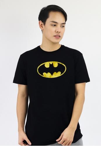 Batman DC Comics black Men's Classic Metallic Logo Graphic T-shirt 70409AAB7C617FGS_1