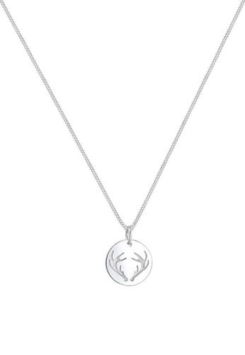 ELLI GERMANY silver Elli Germany Necklace Antler Plate Pendant Christmas 925 Sterling Silver 6FF15AC17678F8GS_1