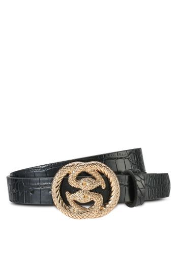ONLY black Rasmi Buckle Jeans Belt 6EB86ACAE0B455GS_1