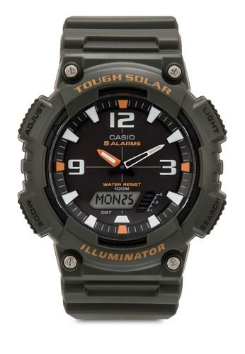 AQ-S810W-3AVDF 數字顯示樹脂esprit門市手錶, 錶類, 飾品配件