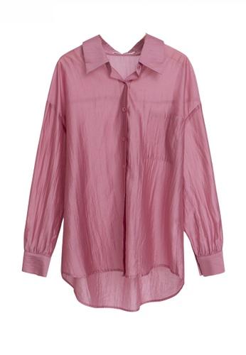 HAPPY FRIDAYS Chic Style Pocket See-Through Shirt JW VY-W2112011 D5F50AAE6B915AGS_1