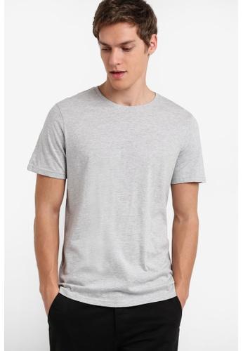 Burton Menswear London grey Grey Crew Neck T-Shirt BU964AA25ULYMY_1