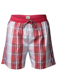 Men's Short Rust Checkered