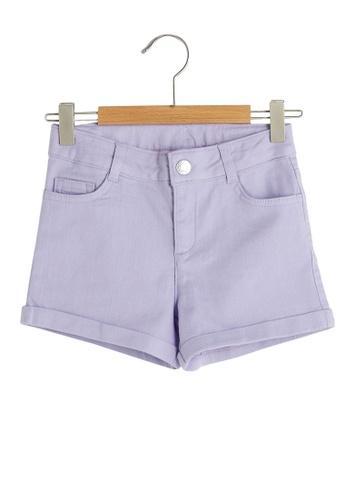 LC Waikiki purple Basic Gabardine Shorts 78A9FKA7FEE311GS_1