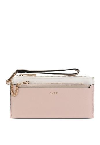 ALDO pink Catharina Wristlet 0E6B4AC878EC57GS_1