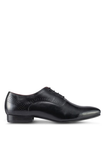ACUTO black Leather Shoes AC283SH0SL67MY_1