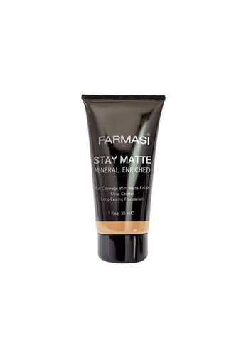 Farmasi Colour Cosmetics beige Stay Matte Foundation (04) FA709BE50HIZMY_1