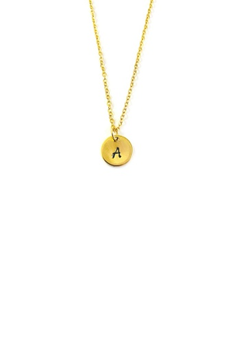 Trinkets for Keeps gold Initial A Stainless Steel Necklace 87420ACBBE4F9DGS_1