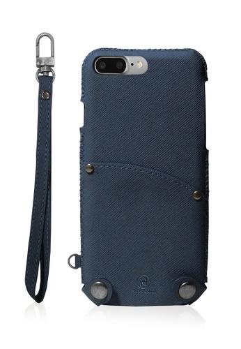 Monocozzi blue Posh Soft PU Leather Pouch for iPhone 7 Plus - Blue MO983AC03JKMHK_1