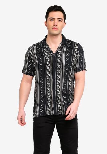 River Island 黑色 短袖襯衫 031B8AA2A280D0GS_1