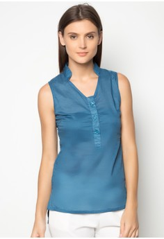 Kaella Stand Collar Top