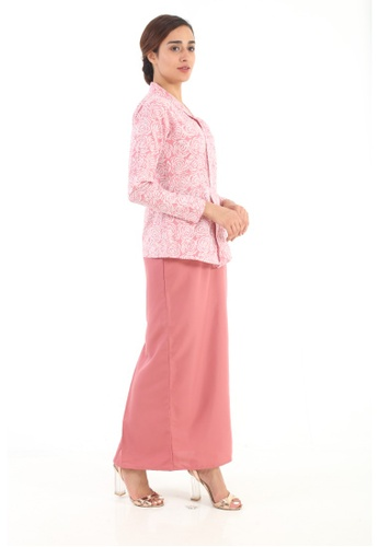 Amar Amran pink Kebaya Midi Batik Moden AAF58AAA25F2B3GS_1