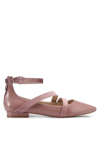 ZALORA pink Strappy Flats 1E64DSH9871311GS_1