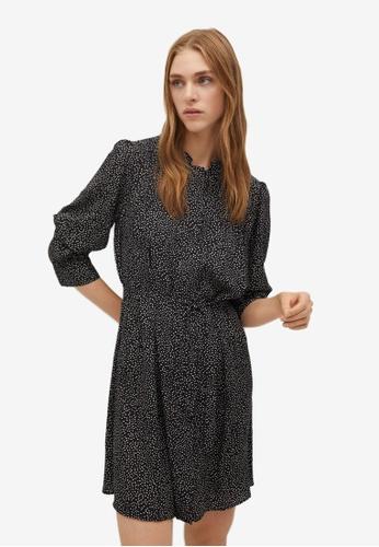 Mango black Dots Print Dress D1485AAF64AEFCGS_1