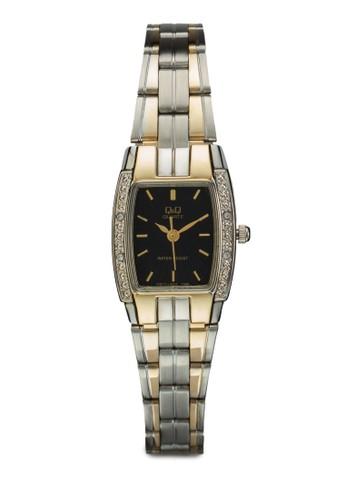 VW71-4esprit taiwan02Y 閃鑽方框鍊錶, 錶類, 飾品配件