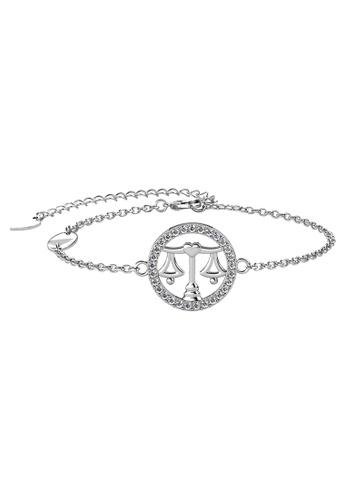 Her Jewellery white Her Jewellery 12 Horoscope Circlet Libra Bracelet (White Gold) embellished with Crystals from Swarovski 5DDB3AC8150EDBGS_1