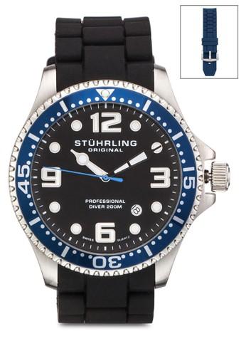 Aquadiver 防水夜光圓錶, 錶類, 飾品配zalora退貨件
