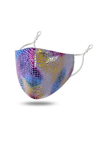 Glamorbit multi Holographic Multi Colour Reusable Washable Scuba Mask 229E2ES1323252GS_1