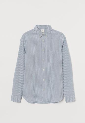 H&M multi Oxford cotton shirt FEF06AA2579A83GS_1