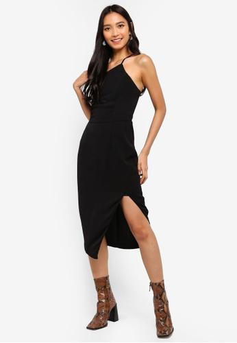 Preen & Proper black One Shoulder Cami Pencil Dress C6718AA6D0C8D2GS_1