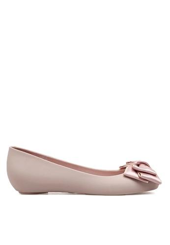 Twenty Eight Shoes 粉紅色 雙色蝴蝶果凍膠雨鞋 VR1838 46E7CSH1B3448CGS_1